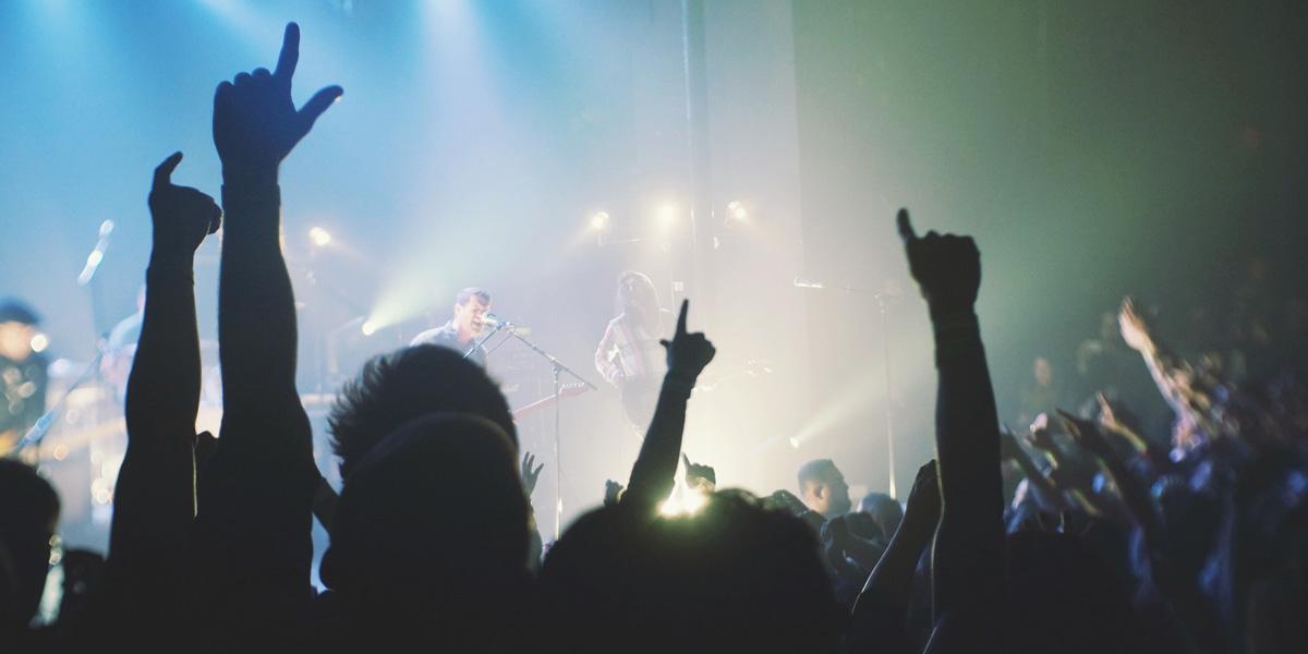 koncert med billetscanning