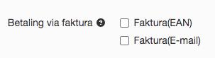 faktura - vælg ean eller mail